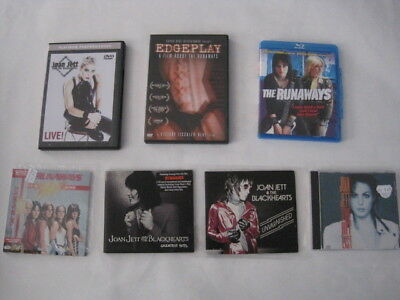 Joan Jett band The Black Hearts The Runaways 4 CD  2 DVD 1 BluRay lot bundle VGC