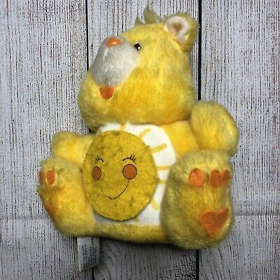 Vintage 1984 Care Bears Funshine Coin Bank American Greetings Plush RARE HTF
