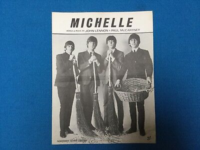 Beatles Sheet Music For Michelle. Printed In England 1965.