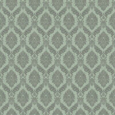York Wallcoverings HO3306 Peacock Damask Wallpaper, Tailored Collection, Blue
