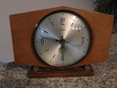 Vintage Smiths Sectronic Battery Operated Mantle Clock Made in England Art Deco