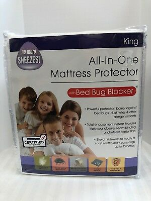 All-in-One Mattress Protector with Bed Bug Blocker King Size Pad