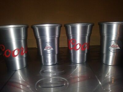 Coors Light beer Aluminum Cup Set of 4 Brand New 22 oz free ship