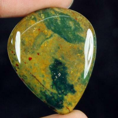 40ct Natural Best Grade Blood Stone Pear Cabochon from Africa GU20