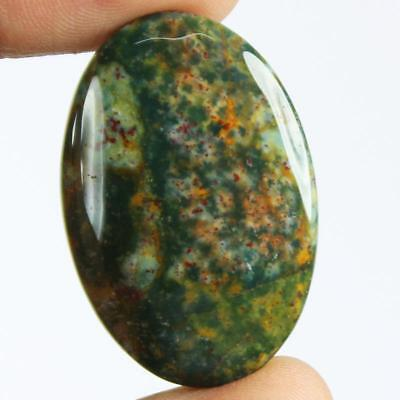 39ct Natural Best Grade Blood Stone Oval Cabochon from Africa EZ30