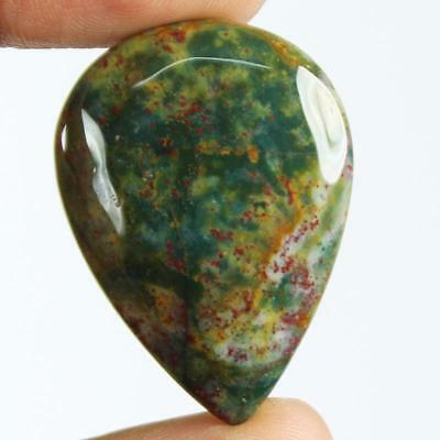 40ct Natural Best Grade Blood Stone Pear Cabochon from Africa EZ55