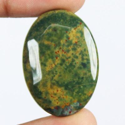 36ct Natural Best Grade Blood Stone Oval Cabochon from Africa HB15