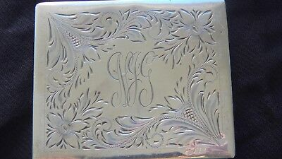 Vintage Felmore Sterling Silver Cigarette Case with Monogram