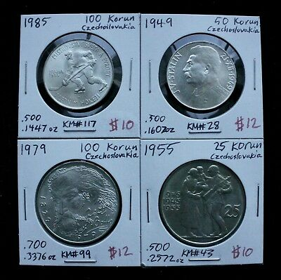 Czechoslovakia Silver Coin Lot - Collection of Czech Silver Coins