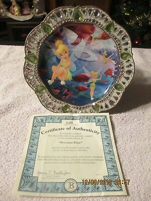 Tinker Bell Jewels of Never Land  Precious Pixie Plate by Bradford Exchange,2007