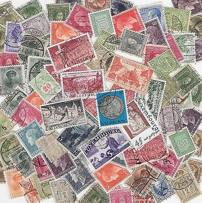 Luxembourg Large Lot - Unchecked Used Collection (95 stamps) w/ Dups - dw984p