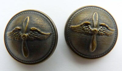 lot 2 BOUTONS aviation aviateur escadrille pilot aircraft flieger 14-18 WK1 WW1