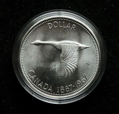 1967 1 Dollar Canada Silver Coin BU Condition
