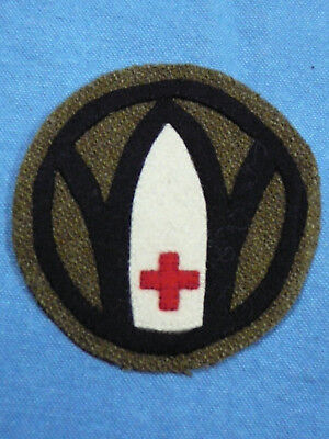 WW1 US Army 89th Division Shoulder Patch with white Red Cross