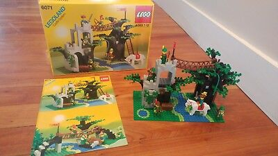 Lego Vintage Castle Forestmen Crossing 6071 Complete Wbox And