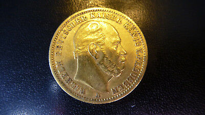 --+- --+-+- 20 reichsmark 1873 A goldmünze  20 Mark Gold rar Super -+-+-- -+--