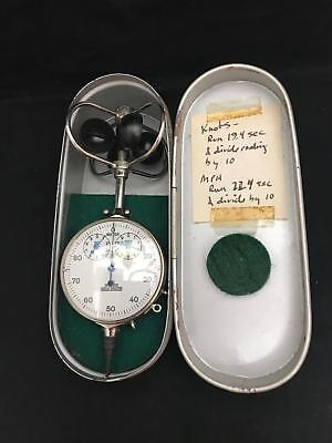 1939 Fuess Anemometer Air Speed Indicator Berlin Steglitz German Vintage Antique