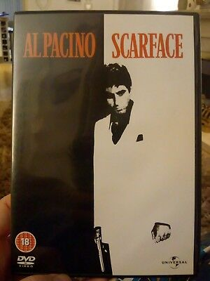 Scarface DVD Al Pacino Michelle Pfeiffer By Oliver Stone A1 condition FREEPOST