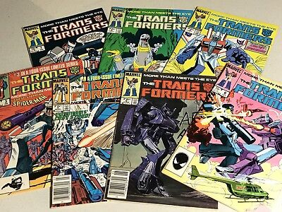 Lot of 7 Marvel Comics Transformers Issues #3-9 (1985-1986) ***SEE DESC***