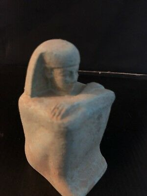 Rare Ancient Egyptian Blue Basalt Priest Hor (23d Dynasty)