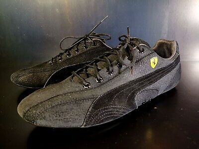 PUMA FERRARI SF SUPERSQUALO GT VINTAGE LO Pro Race Driving Shoes Black Suede