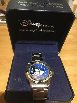 Limited Edition of 1000 Mickey Mouse 70th Anniversary Watch, Original BoxUnused.