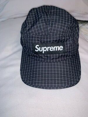 bb436812773 SUPREME SS18 WORLD Famous Taped Seam Camp Cap hat box hoody logo ...