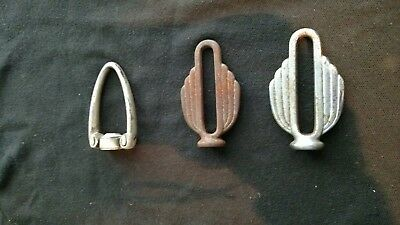 3 Antique Vintage Stainless Steel And Cast Iron Finials