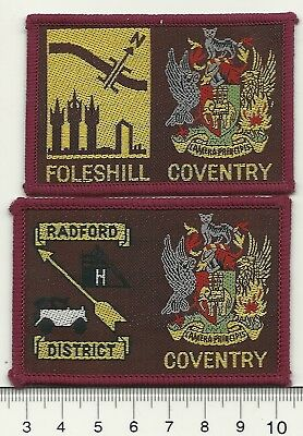 UK Scouts Extinct Double Coventry District Badges