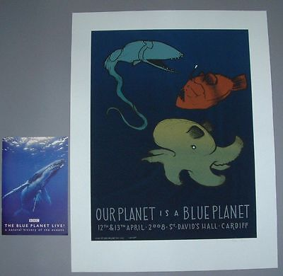 Jay Ryan Blue Planet Cardiff Poster Print Program Signed Numbered BBC 2008