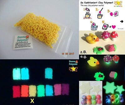 Lumi Clay Polymer (Sculpting grade) 10 g Glow in the Dark Yellow