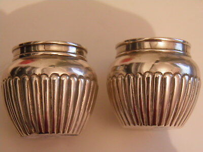 Victorian - Solid Silver Salts - London 1884