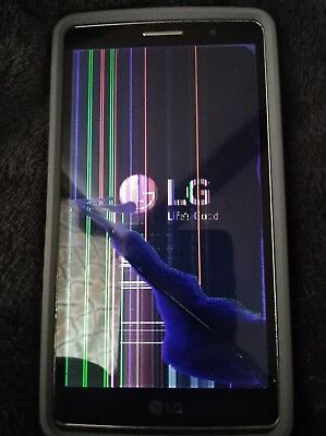 AT&T Lg G Vista 2 *Needs Screen Replaced* FOR PARTS/ NOT WORKING
