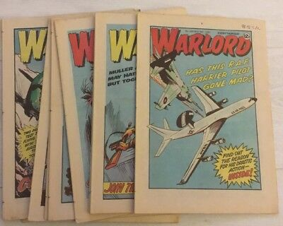 11 x WARLORD COMICS - No's 346 - 356 from 1981