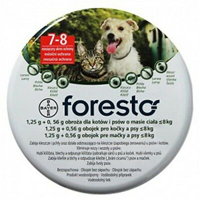 Foresto Seresto Flea amp Tick Collar for Dogs amp Cats Up to 18lbs 8kg 38cm