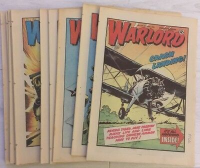 11 x WARLORD COMICS - No's 357 - 367 from 1981