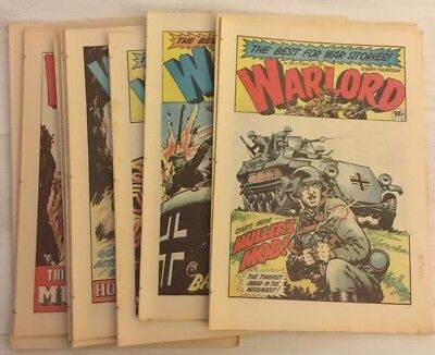11 x WARLORD COMICS - No's 368 - 379 from 1981