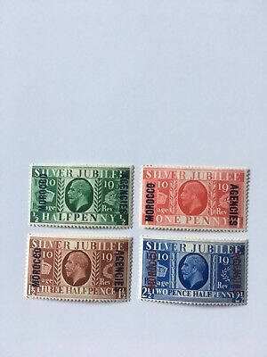 Morocco Agencies 1935 Silver Jubilee Cat Nos 62-65 M/Mint