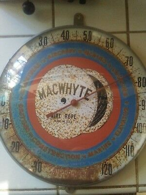 Vintage Thermometer Sign Macwhyte Wire Rope
