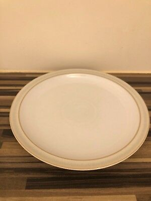3 Stylish Denby Linen 10.5 Inch Dinner Plates Good Used Condition