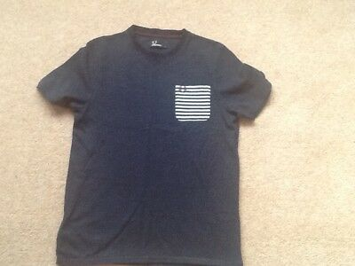 Boys Fred Perry navy t shirt with white spots - large boys