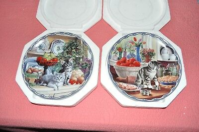 Two Bradford Exchange Cat Plates In Original Boxes
