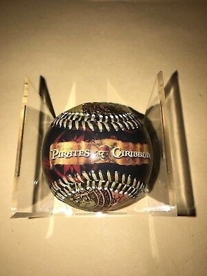 Disney Collectable Baseball Ball - Pirates Of The Caribbean With Display Cube
