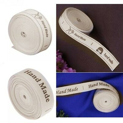 4.5 Mt Roll HAND MADE Sew On Labels Sewing Craft