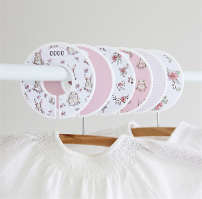 Stylish Wardrobe dividers. Sweet pink bunnies. Closet organisers.