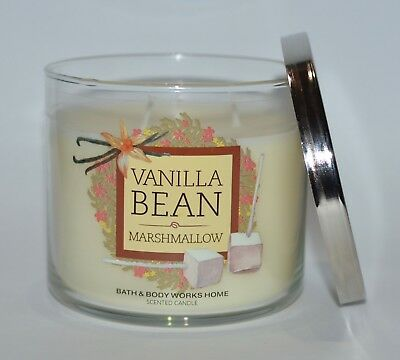 Bath Body Works Vanilla Bean Marshmallow Scented Candle 3 Wick 145Oz Large