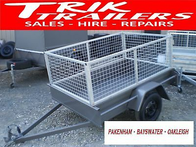 6x4 box trailer and cage