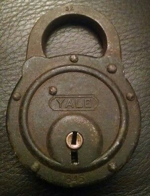 Vintage Antique Yale & Towne Padlock Lock No Key Made In Usa Great Condition