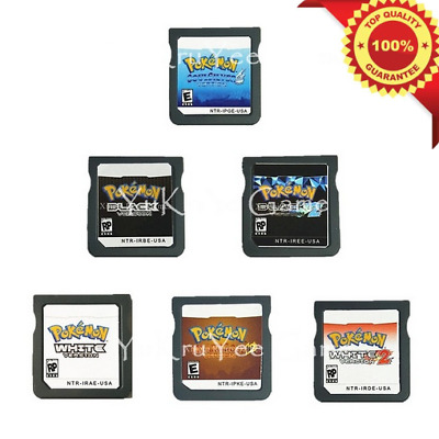 Pokemon White & Black Series DS 2DS 3DS Console Video Game English  Play Now !