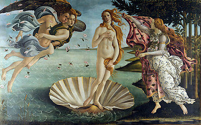 The Birth of Venus by Sandro Botticelli A1 High Quality Canvas Print